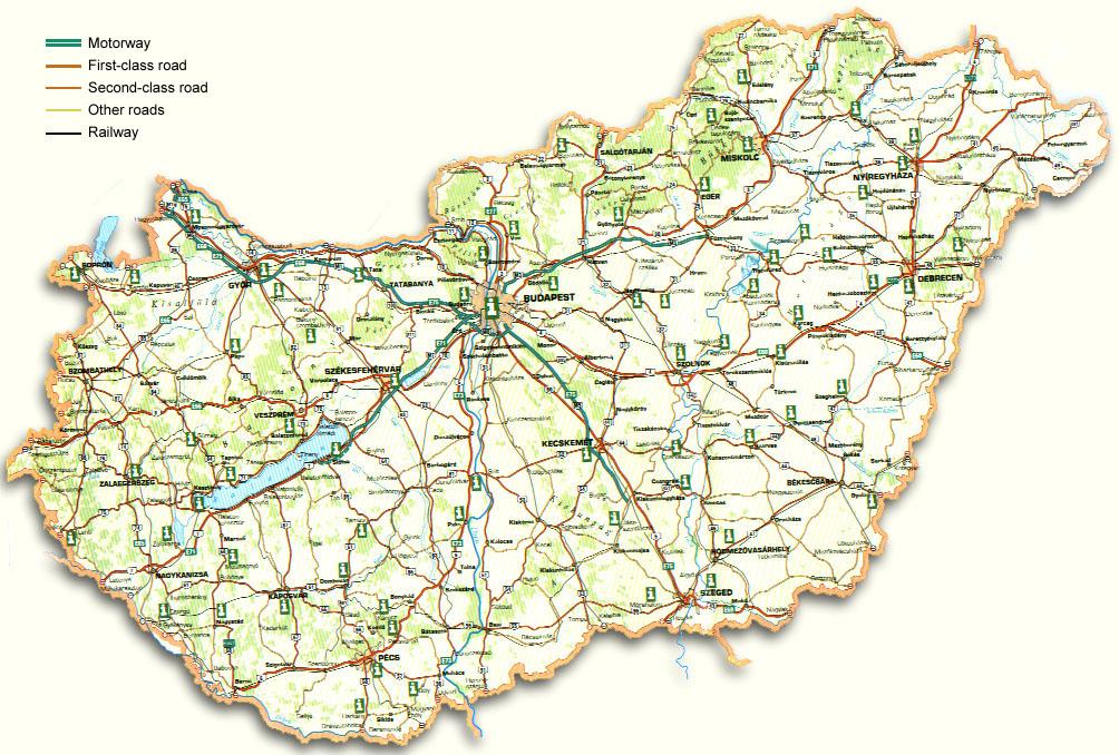 Hungary Travel Maps | Metro Map | Bus Routes | Metrobus Way Map ...